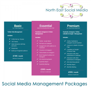 North East Social Media Management Packages
