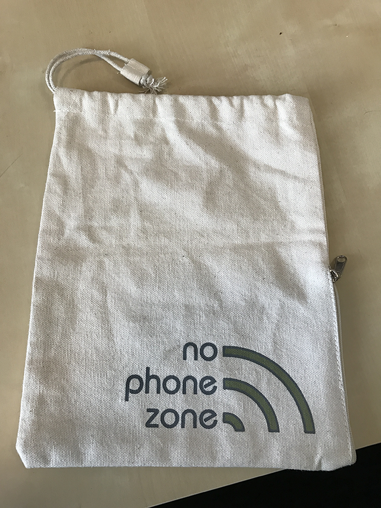 no phone zone canvas bag, North Shields Social Media training
