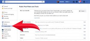 Facebook Followers Settings